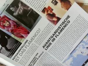 "Bericht in der ANDA, Ausgabe (August 2012) über das Projekt ""de estetica flamenca"""