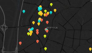 Screenshot der Karte von Mi Flamenco Place http://www.miflamencoplace.com/index.php?option=com_dmk2maps&view=globalmap&Itemid=101