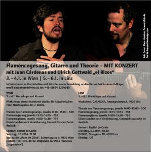 Juan Cardenas und Ulrich Gottwald: Theorie, Flamencogesang und Gitarre. Und ein Konzert (recital de cante).