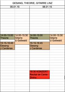 Gesang Gitarre Theorie_Stundenplan LINZ