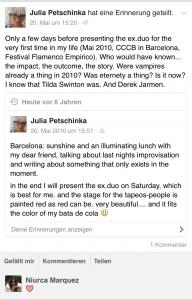 Screenshot der Facebook-Erinnerung zu Flamenco Empirico