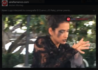 Screenshot Video aireflamenco - Karen Rubio Lugo