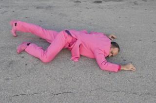 Foto Flamencotaenzer Juan Carlos Lerida ganz in Pink_Foto von Manuel Romalde