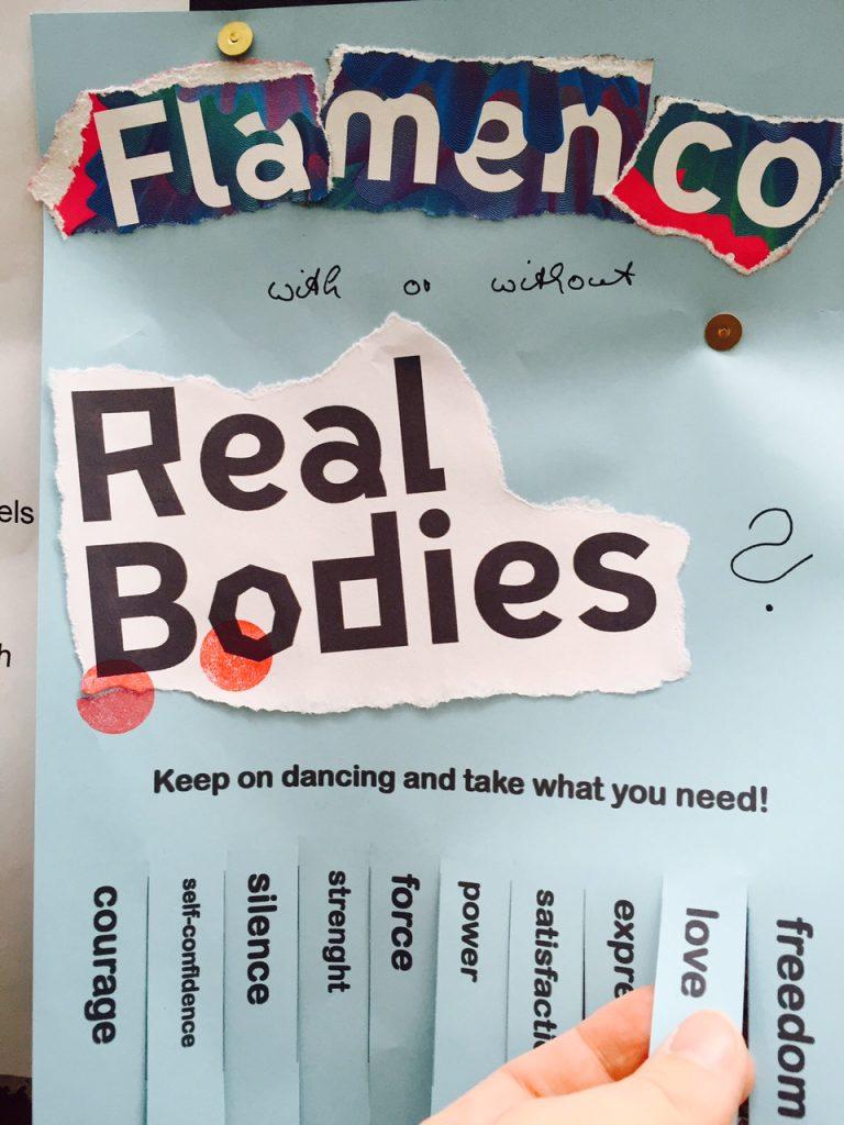 Foto des Abreisszettels Flamenco mit Real Bodies