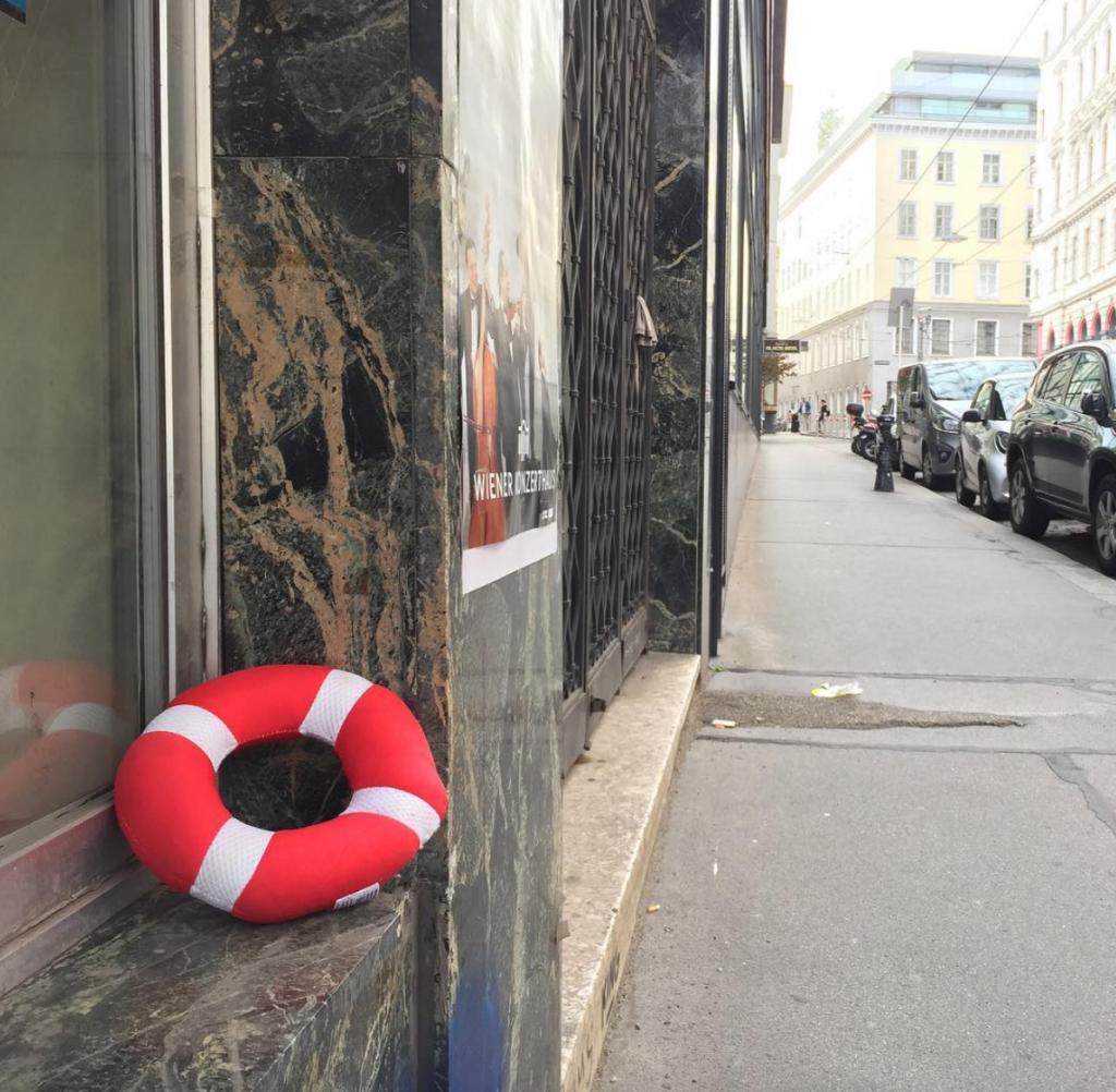 Foto des Rettungsrings den ich in Wien gefunden habe
