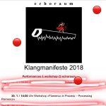 Plakat Ankündigung des Festivals Klangmanifeste in Wien 2018