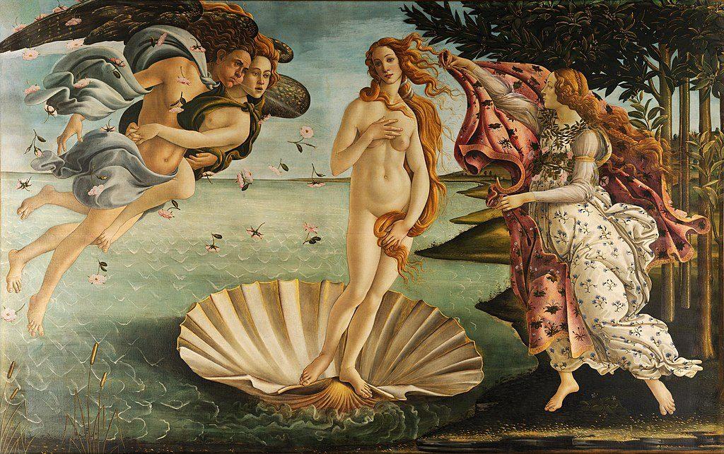 """Bild der """"Geburt der Venus"""" von Botticelli - wikipedia"""