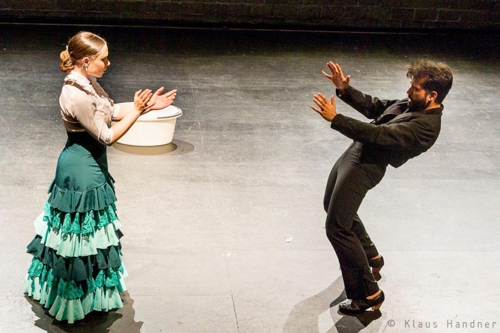 Bailar en Hombre Flamencokonzert von Fernando Lopez Rodriguez und Irene Hernandez beim Flamencofestival im tanzhaus nrw
