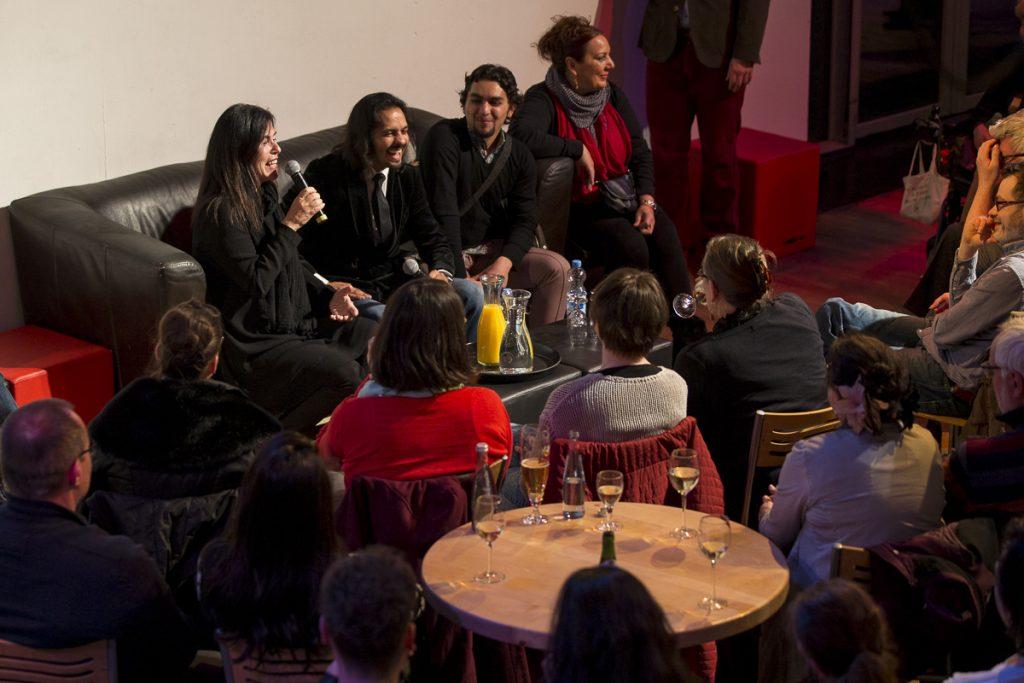Publikumsgespräch beim Flamencofestival Susanne Zellinger und Farruquitpo